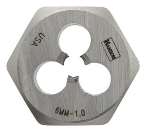 Irwin  Hanson  High Carbon Steel  Metric  Hexagon Die  6mm-1.00  1 pc.