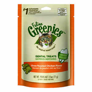 Greenies  Oven Roasted Chicken  Cat  Treats  1 pk 2.5 oz.