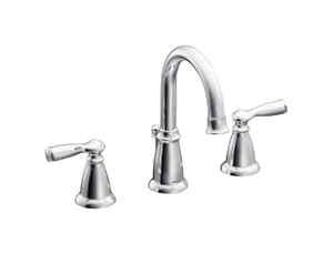 Moen  Banbury  Chrome  Two Handle  Lavatory Faucet  8-16 in.