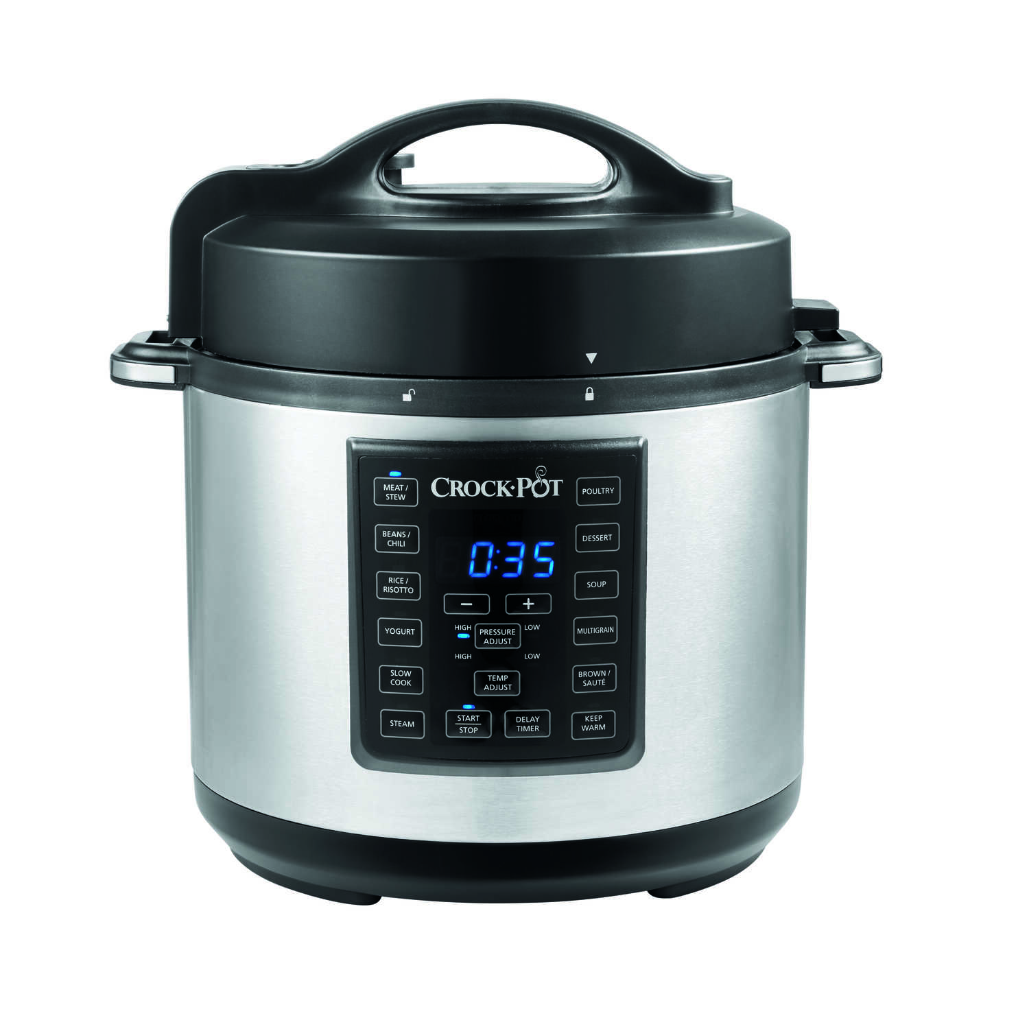 Sunbeam  Crock-Pot  6 qt. Black  Stainless Steel  Programmable Multi-Cooker
