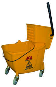 Ace  35 qt. Wringer Bucket  Yellow