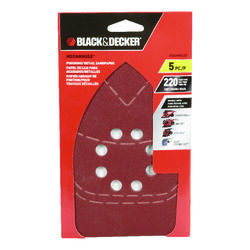 Black and Decker  Mega Mouse  10-11/16 in. L x 4-1/16 in. W 220 Grit Aluminum Oxide  Sandpaper  5 pk