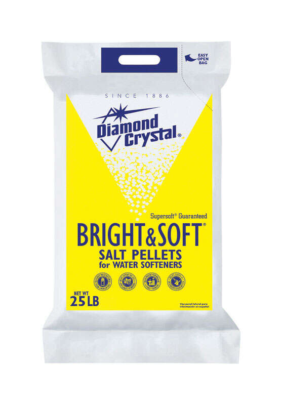 Diamond Crystal Bright & Soft Water Softener Salt Pellets 25 lb.