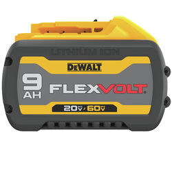 DeWalt  FLEXVOLT  60 volt 9 Ah Lithium-Ion  Battery  1 pc.