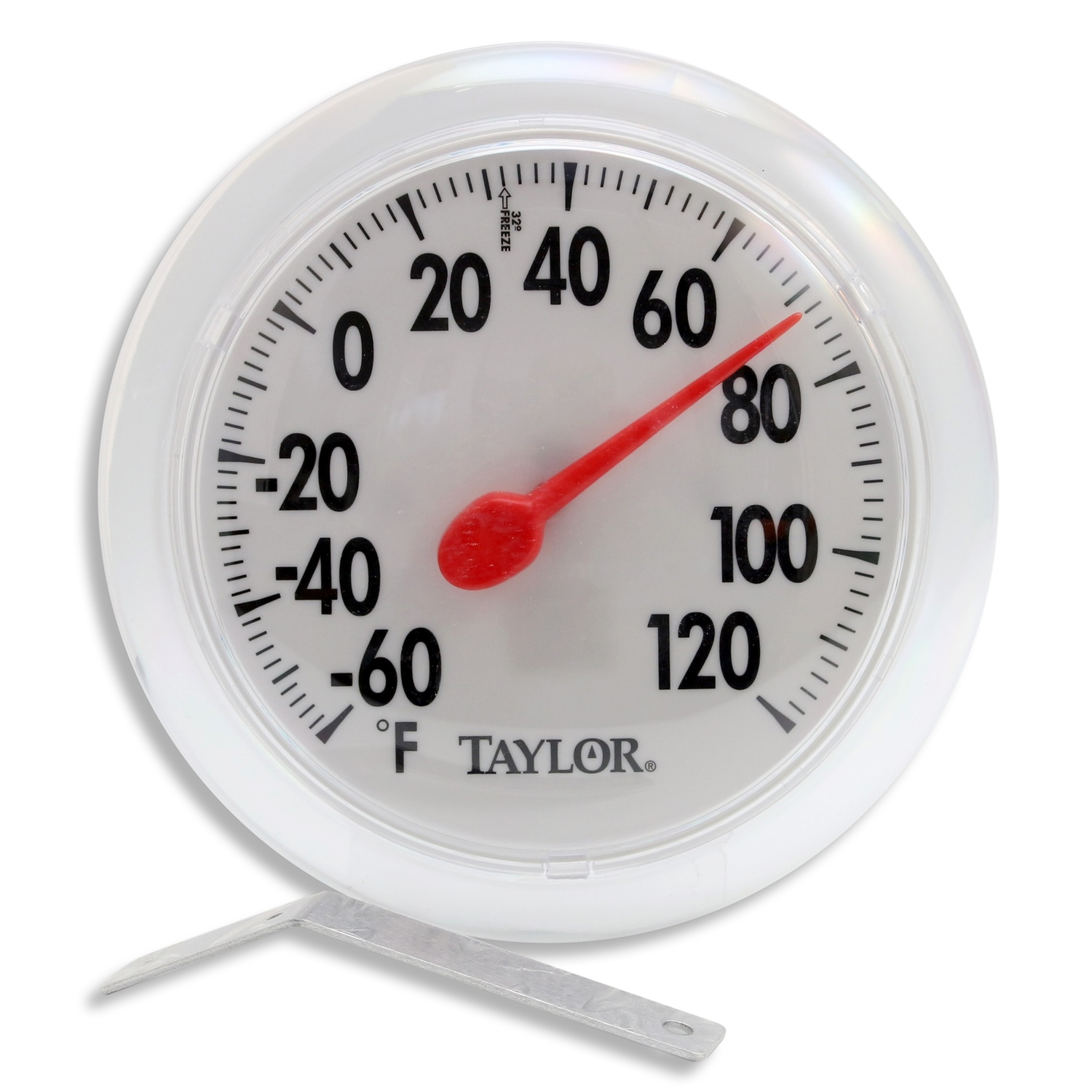 Taylor  Dial Thermometer  White  Plastic