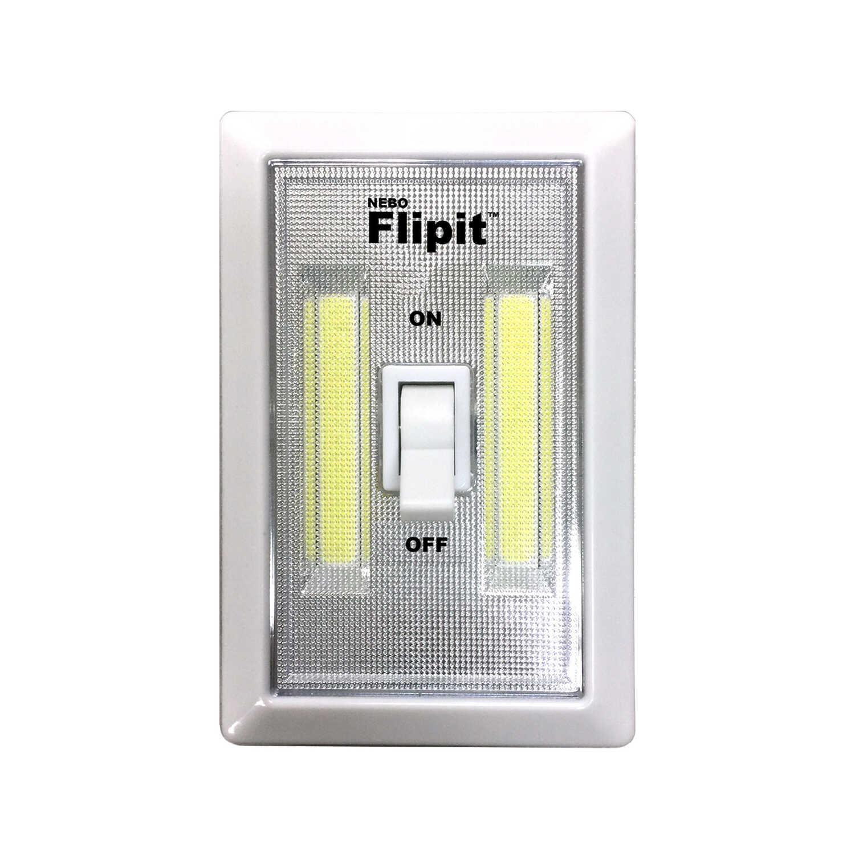 Nebo Flipit Manual Battery Powered Led Night Light Wswitch Ace