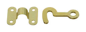 National Hardware  Brass-Plated  Brass  2 pk Hook and Staple