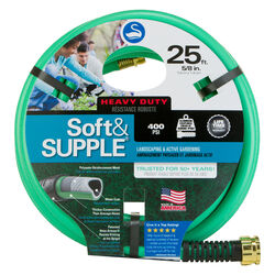 Swan Soft&SUPPLE 5/8 in. Dia. x 25 ft. L Heavy-Duty Green PVC Garden Hose