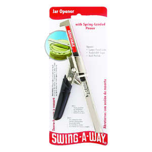 Swing-A-Way  1/2 in. W x 4-1/2 in. L Black/Silver  Jar Opener