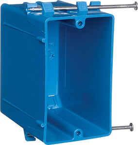 Carlon  3-3/4 in. Rectangle  PVC  1 gang Blue  Outlet Box