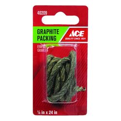 Ace  1/8 in. Dia. x 1/8 in. Dia. x 24 in. L Graphite  Faucet Stem Packing