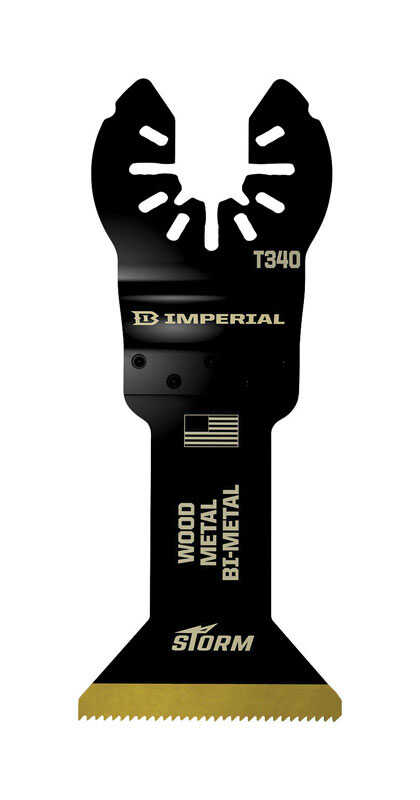 Imperial Blades  OneFit  1-3/4 in. Dia. Titanium-Coated Bi-Metal  Oscillating Saw Blade  10 pk