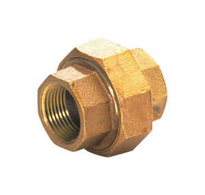 JMF  3/4 in. Dia. x 3/4 in. Dia. FPT To FPT To Compression  Red Brass  Union
