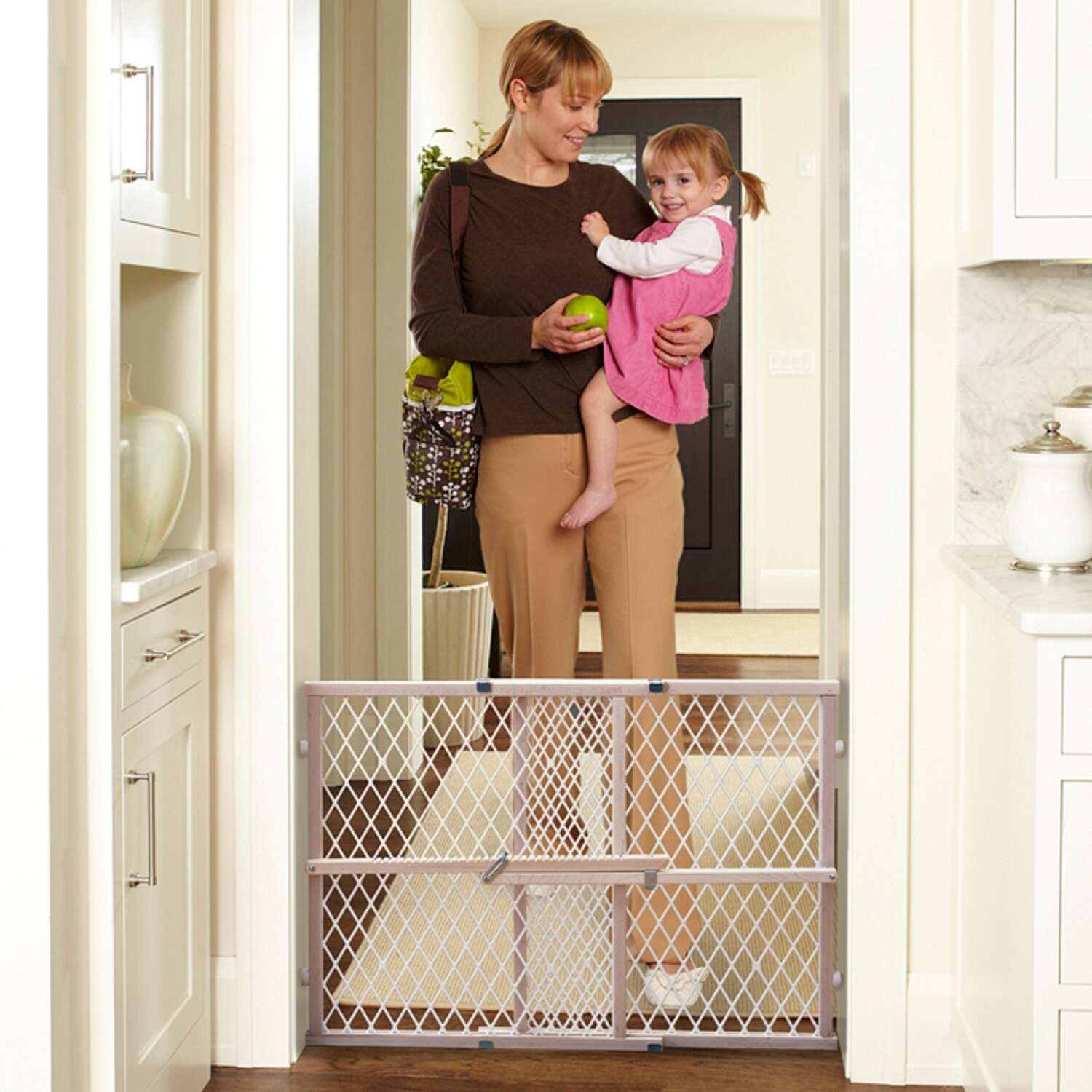North States  Brown  23 in. H x 26.5-42 in. W Wood  Child Safety Gate