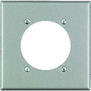 Leviton  Silver  2 gang Stainless Steel  Receptacle  1 pk Wall Plate