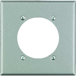 Leviton  Silver  2 gang Stainless Steel  Wall Plate  1 pk Receptacle