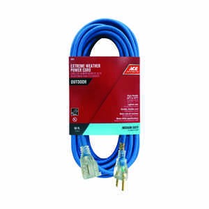 Ace  Outdoor  50 ft. L Extension Cord  14/3 SJOW  Blue
