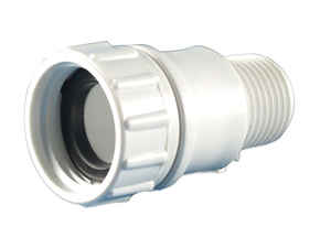 Lasco  PVC  Hose Adapter  1/2 in. Dia. x 3/4 in. Dia. White  1 pk