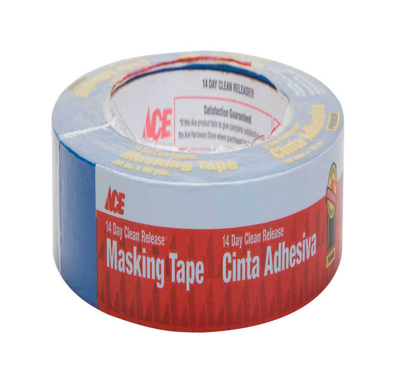 Ace  0.94 in. W x 60 yd. L Blue  Medium Strength  Painter's Tape  1 pk