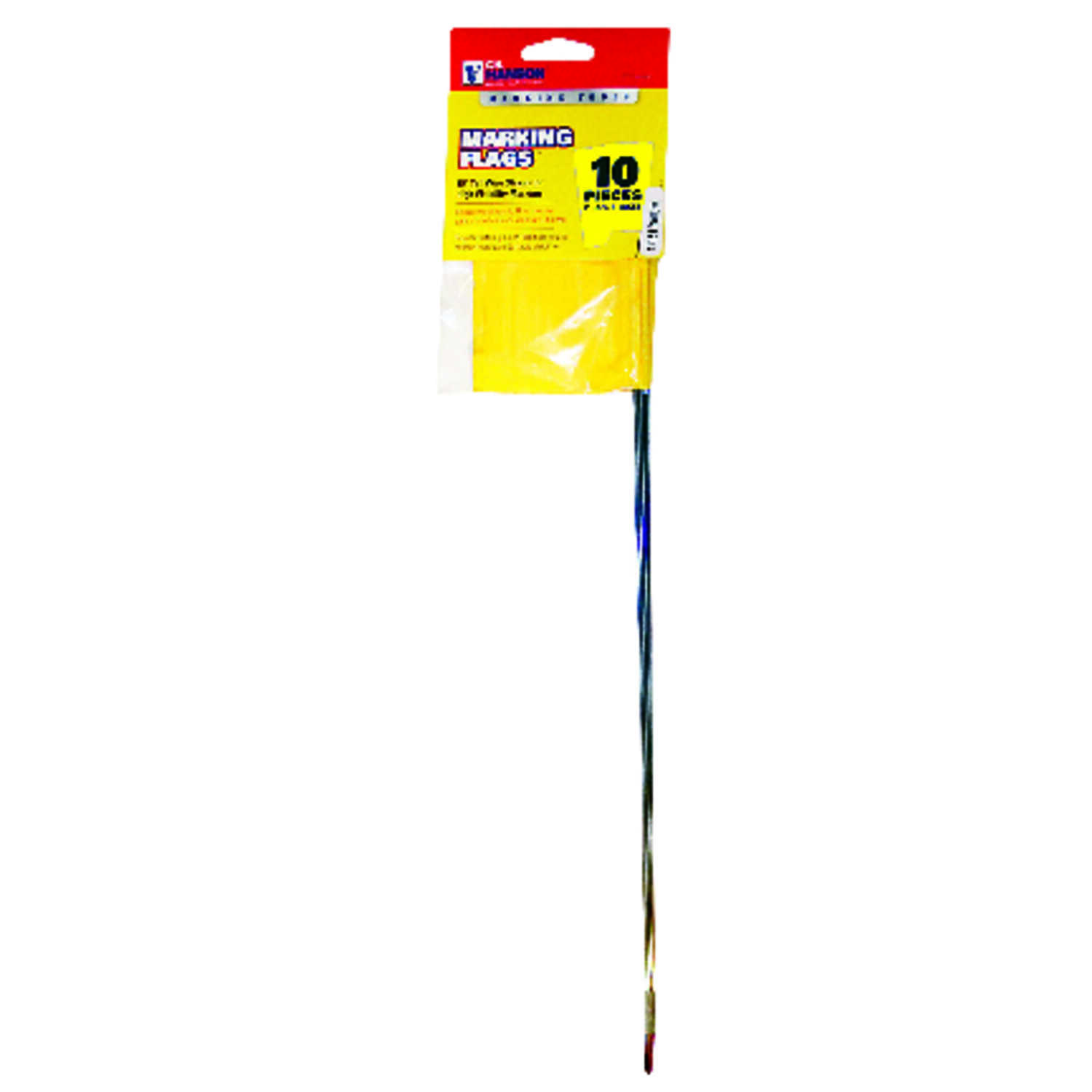 C.H. Hanson  Yellow  Marking Flags  Polyvinyl  15 in. 10 each