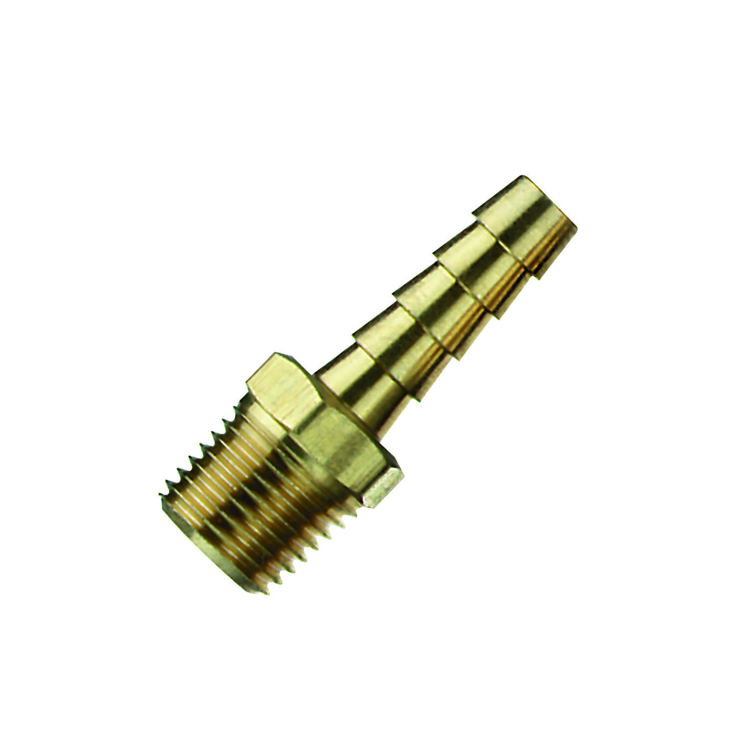 Tru-Flate  Brass  Barb Hose Fitting  3/8 in. I.D. Hose x 3/8  3/8 in. Male  NPT   3/8 in. 1 pc. Male