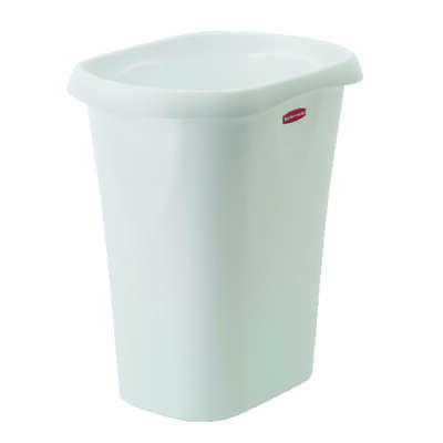Rubbermaid 3 gal. White Polypropylene Open Top Wastebasket