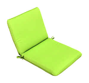 Casual Cushion  Gray/Lime  Polyester  Seating Cushion  1.5 in. H x 19 in. W x 36 in. L