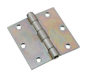 National Hardware  3-1/2 in. L Zinc-Plated  Door Hinge  2 pk