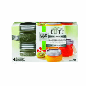 Ball  Collection Elite  Wide Mouth  Canning Jar  8 oz. 4 pk