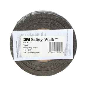 3M  Black  Anti-Slip Tape  1 in. W x 60 ft. L 1 pk