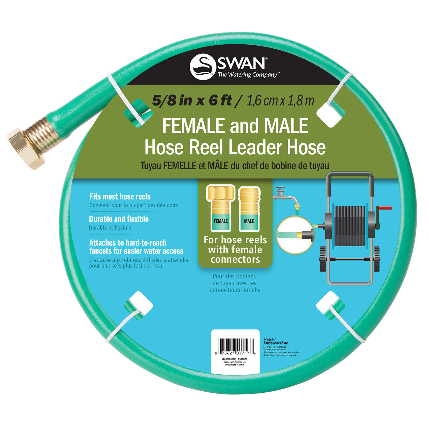 Swan 5/8 in. Dia. x 6 ft. L Leader Green Hose - Ace Hardware
