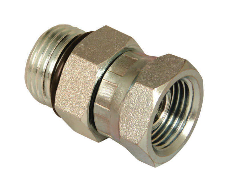 Apache  Steel  Hydraulic Adapter  1/2 in. Dia. x 3/8 in. Dia. 1 pk