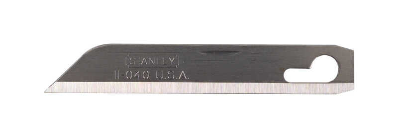 Stanley  2-9/16 in. L x 0.04 in.  Stainless Steel  Replacement Blade  1 pk Extra Heavy Duty