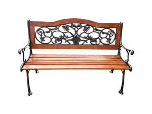 Living Accents  Park  Park Bench  Cast Iron  31.5 in. H x 23.6 in. L x 49.5 in. D