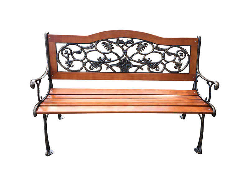 Living Accents  Park  23.6 in. L x 49.5 in. D x 31.5 in. H Park Bench  Cast Iron