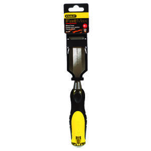 Stanley  FatMax Thru-Tang  9 in. L x 1-1/4  W Steel  Yellow  1 pc. Wood Chisel