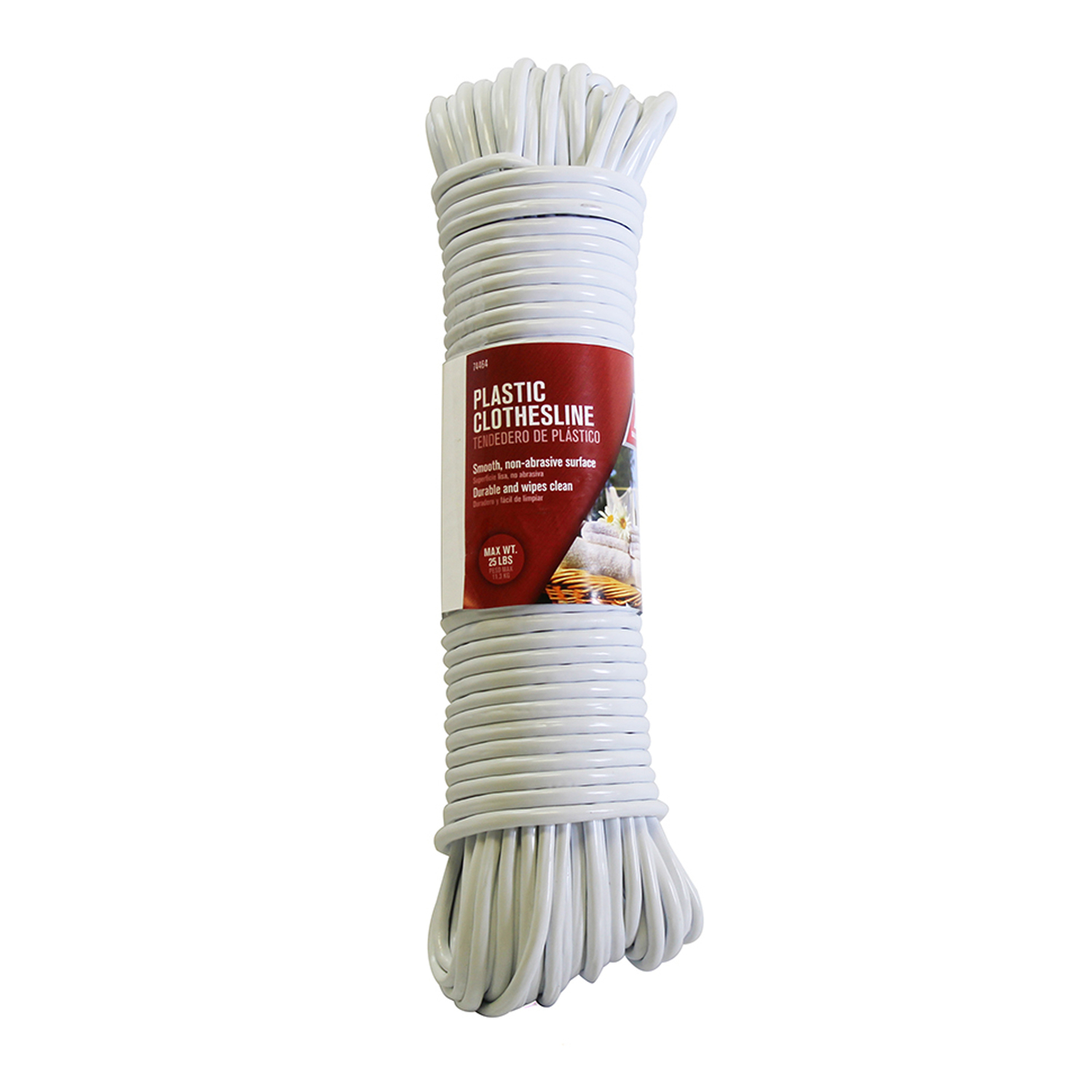 Ace  100 ft. L White  Plastic  Clothesline  White