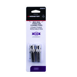 Monster Cable Just Hook It Up Twist-On RG6 Coaxial Connector 2 pk