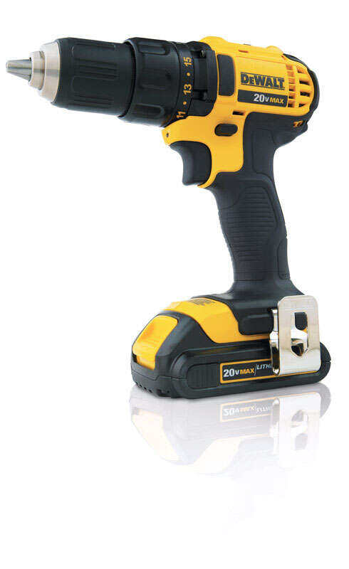 DeWalt  20 volt 1/2 in. Cordless Compact Drill/Driver  Kit 2000 rpm 2 speed