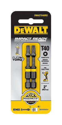 DeWalt  Impact Ready  Torx  T40 in.  x 2 in. L Screwdriver Bit  2 pc.
