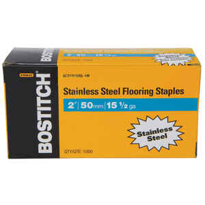 Bostitch  2 in. L Stainless Steel  Wire Staples  15.5 Ga.