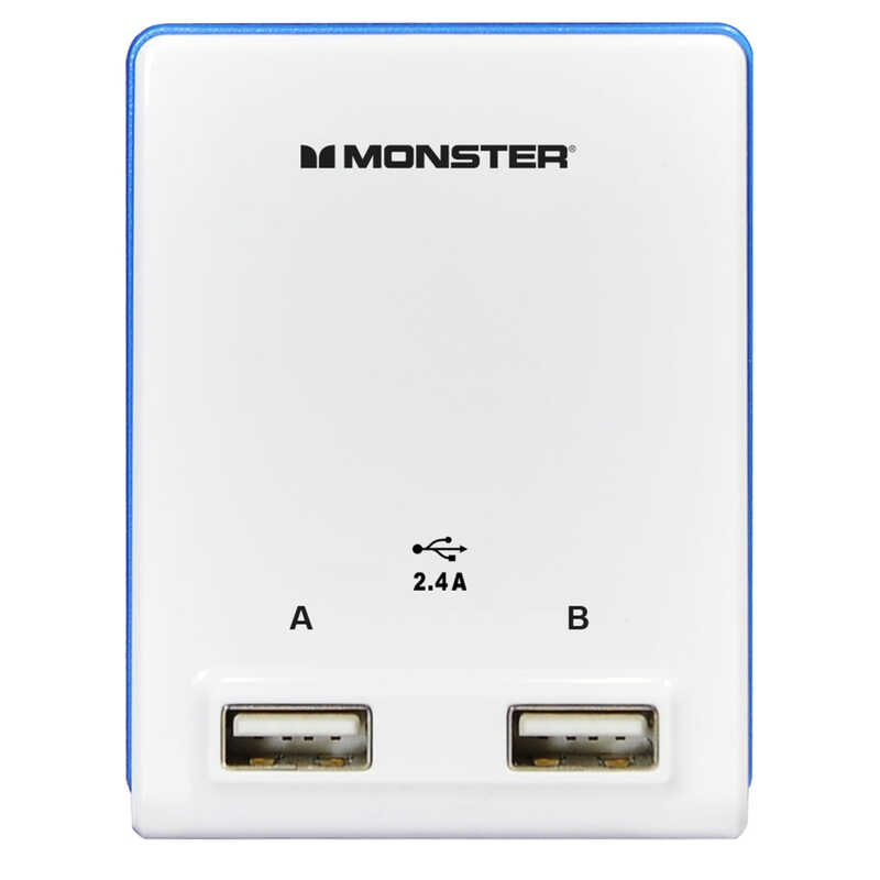 Monster  Just Power It Up  Adapter  2 outlets Wall Tap  Surge Protection 1 pk