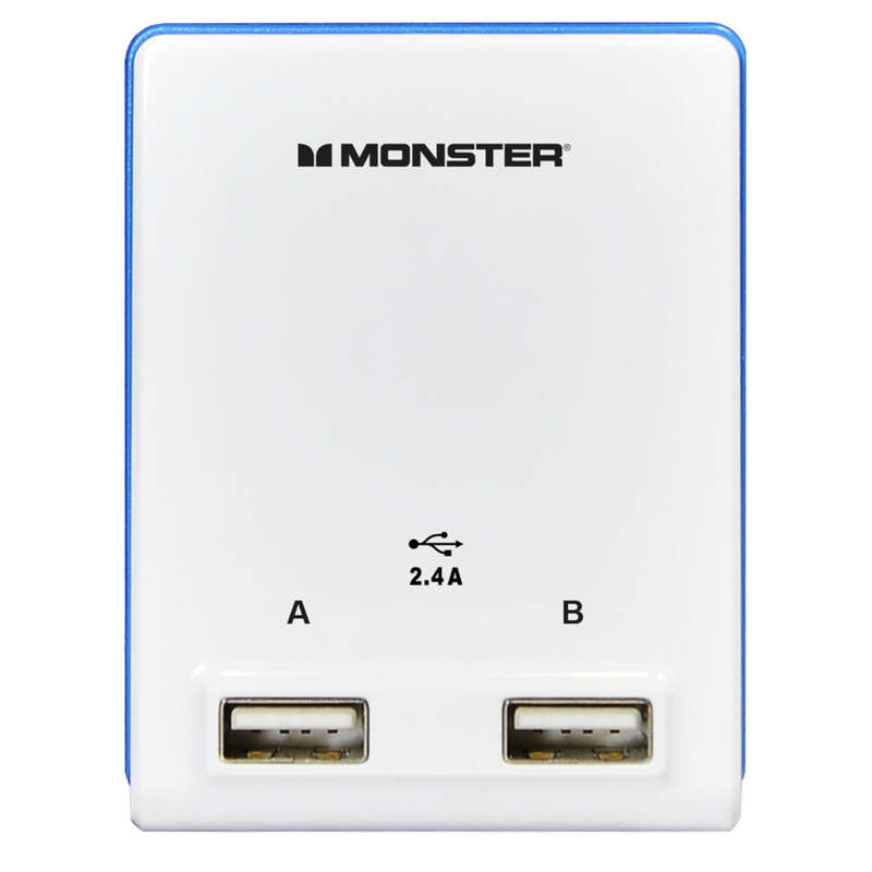 Monster Cable  Just Power It Up  Adapter  Wall Tap  1 pc. 2 outlets