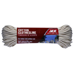 Ace  200 ft. L White  Cotton  Clothesline