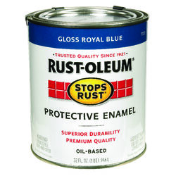 Rust-Oleum Stops Rust Indoor and Outdoor Gloss Royal Blue Oil-Based Protective Paint 1 qt.