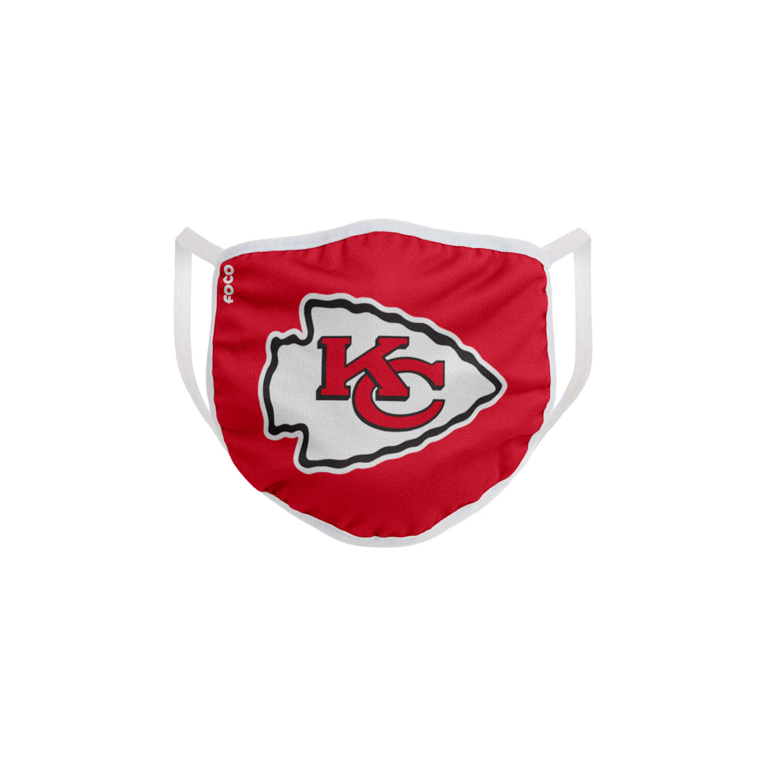 FOCO  Household Multi-Purpose  Kansas City Chiefs  Face Mask  Multicolored  1 pk