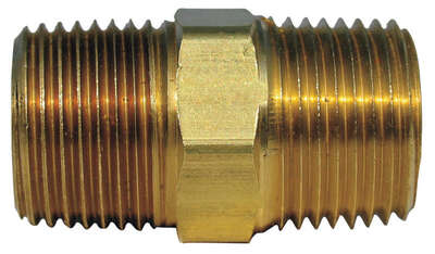 JMF  1/2 in. MPT   Brass  Hex Nipple