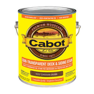 Cabot  Semi-Transparent  16337 Cordovan Brown  Oil-Based  Penetrating Oil  Deck and Siding Stain  1