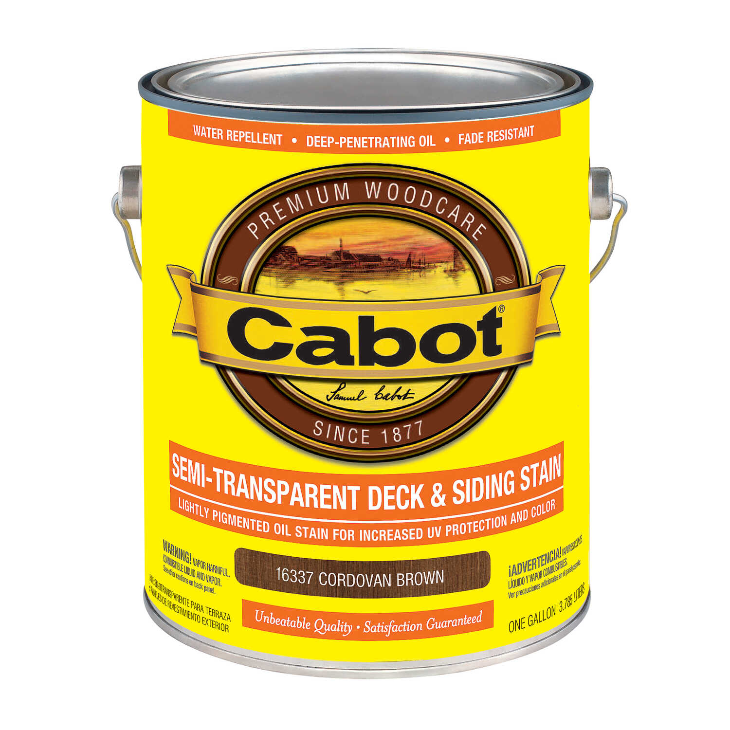 Cabot  Semi-Transparent Deck & Siding Stain  Semi-Transparent  Cordovan Brown  Oil-Based  Natural Oi