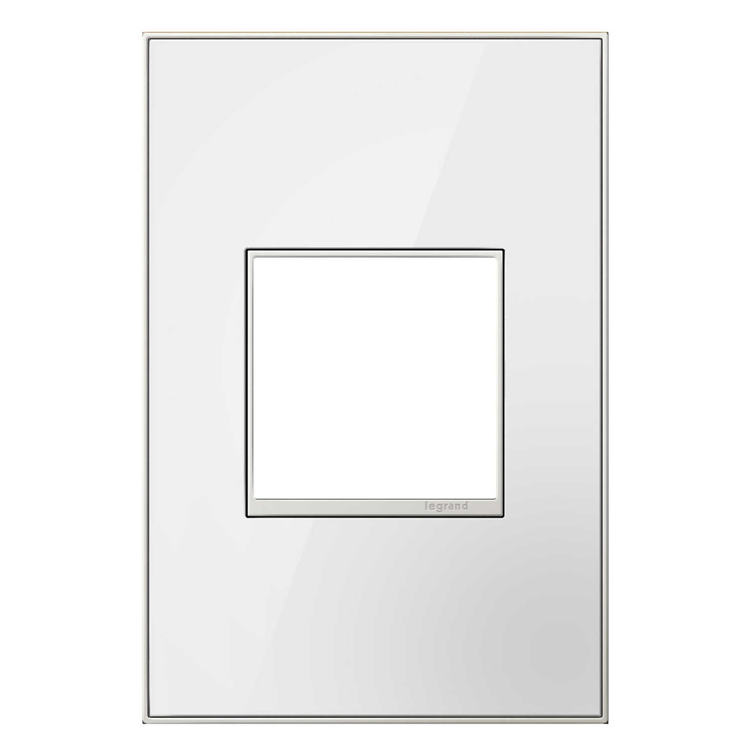 Legrand  Adorne  White  1 gang Thermoplastic Nylon  GFCI/Rocker  1 pk Wall Plate